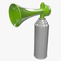 3d model of air horn