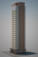 rezidential tower 3d model