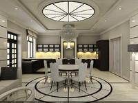 Interior Scene - Project 3 - kitchen, dinning room