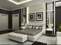 interior - master bedroom 3d model