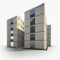 double residential house 3d model
