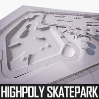 3d skate park model