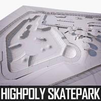 3d obj skate park