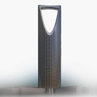 3d model kingdom centre tower riyadh