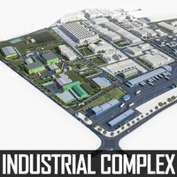 industrial factory complex 3d model