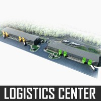 logistics center 3d obj