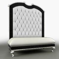 3d bruno zampa aurea sofa model