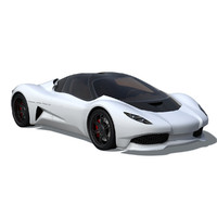 3d model anaconda supercar sports car