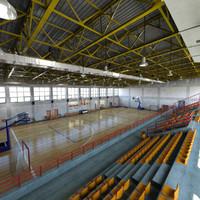 3d interior basketball court model
