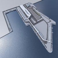 boat terminal 3d max