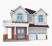 3d cottage house