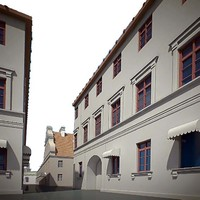 old town historical minsk 3d model