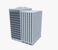 3d building office model