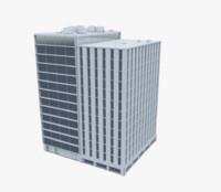 3d building office model