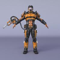 3d - sci fi soldier model