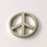 peace symbol 3d model