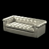 sofa foot tufted leather 3d 3ds