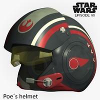 Poe Dameron helmet