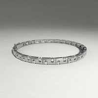 silver bracelet 3d x
