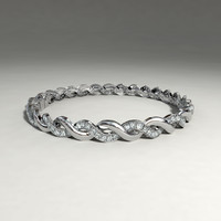 silver bracelet 3d ma