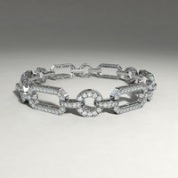 silver bracelet 3d obj