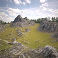3d hills terrain