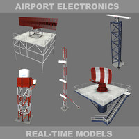3d model airport tarsier runway
