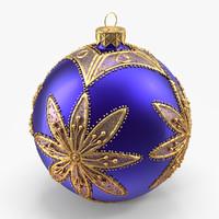 christmas ball 3d max