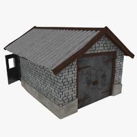 cartoon garage 3d model