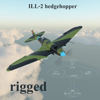 il-2 hedgehopper 3d model