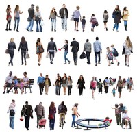 2D Cutout People Casual vol. B