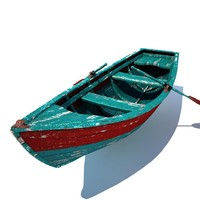 3d old row boat
