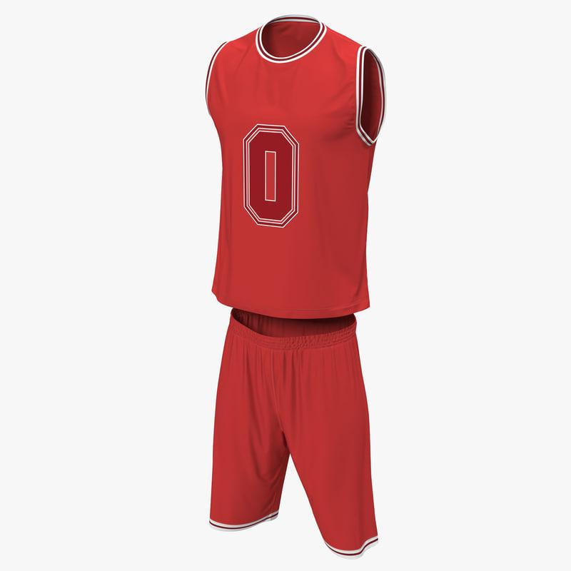 3d models of Basketball Uniform Red 00.jpg