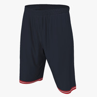 basketball shorts black 3d 3ds