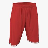 max basketball shorts red