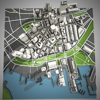 3d model boston city