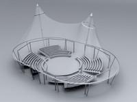 3d circus interior