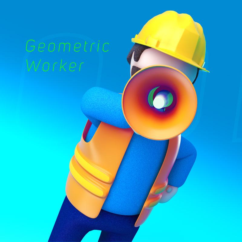 Geometric Worker-Render_01-03 Square.jpg