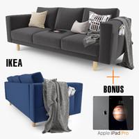 ikea morsborg sofa seat 3d model
