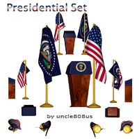 3d model set presidential