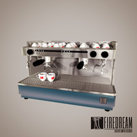 coffe machine 3d max
