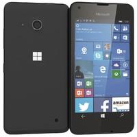 3d microsoft lumia 550 black