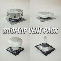 pack rooftop vents 3d model