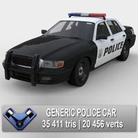 3d model generic police car