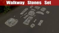 obj stones walkway set