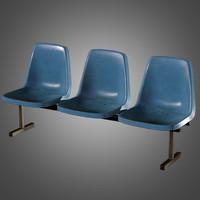 laundromat bench chairs 3d obj
