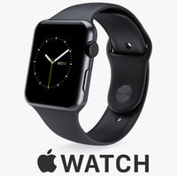 42mm space black stainless steel max