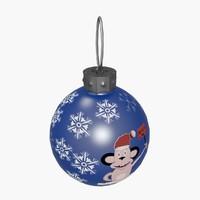 3d model christmas ball