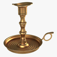 antique brass candle holder max