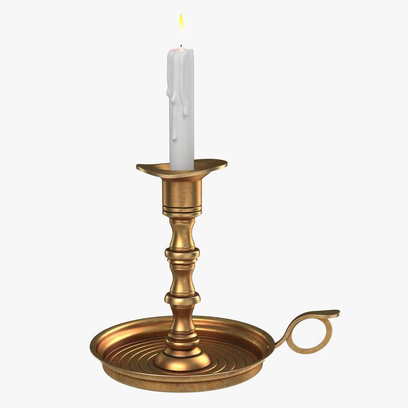 Antique Brass Candle Holder Set 00.jpg